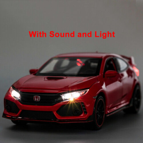 1//32 Honda Civic Type R Alloy Model Car Diecast Toy Collection Sound/&Light Gift