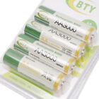 4x AA 3000mAh 1.2V Rechargeable Battery Ni-Mh NiMH Cells Batteries BTY compact