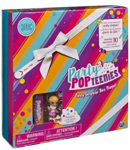 Party-Popteenies-Cutie-Animal-Party-Surprise-Box-Playset-Confetti-Mini-Doll-NEW