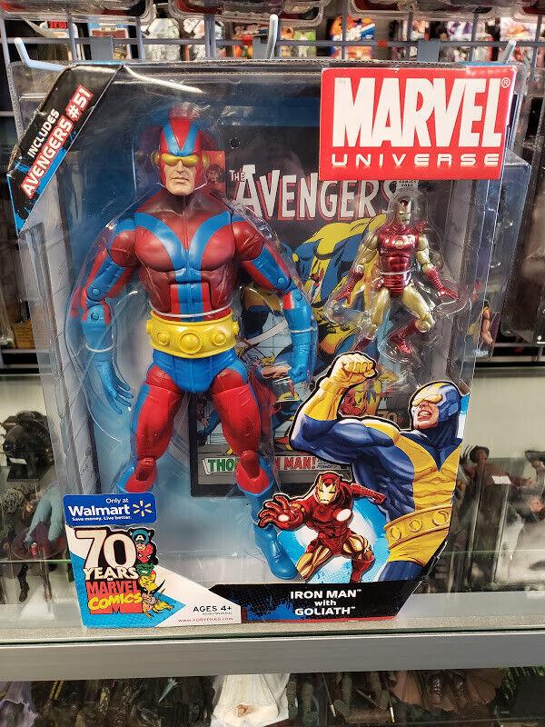2009 Marvel Universo 3.75  Iron Man Con Goliath Vengadores  51 Walmart Hasbro Nuevo
