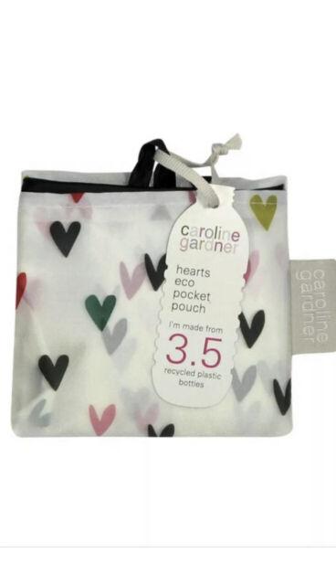 Bag By Caroline Gardner Heart  Pocket Pouch Bag BNWT