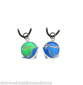 Best Friends 2 BFF Mood Color Changing Dolphin Necklaces Set With ...
