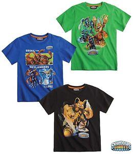 New Boys Skylanders Summer Short Sleeve Skylander Top T-Shirt Age 3-12 Years