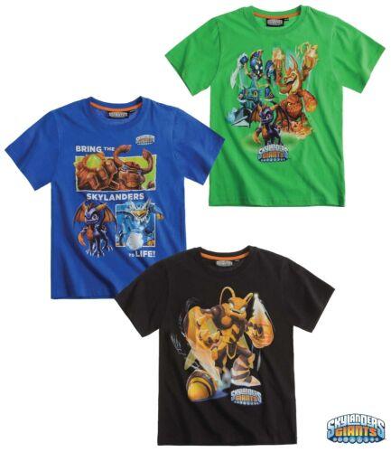 New Boys Skylanders Short Sleeve Skylander Top T-Shirt Age 3-12 Years