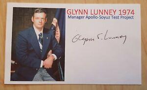 Nasa Apollo 11, 13 Flight Director Glynn Lunney original signed Card, Space