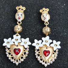 BLOGGERS FAV ANTHROPOLOGIE BAROQUE LOOK 2 1/4'' ROYAL DROP DANGLE EARRINGS - NEW