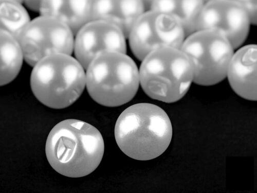 10 Knöpfe Perlenknöpfe Perlmutt Brautkleid Hochzeit usw verschiedene Größen