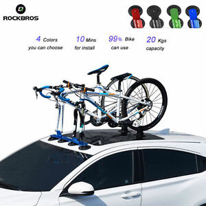 Image Is Loading RockBros Suction Roof Top Bike Bicycle Rack Carrier