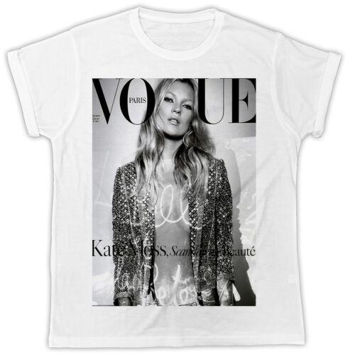 Kate Moss Vouge Poster Cool Fashion Designer Cadeau Idéal Pour Homme Unisexe T-Shirt