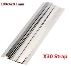 Pure-Nickel-99-96-Low-Resistance-Ni-Metal-Strap-Sheet-Set-0-1mm-4mm-100mm-30X