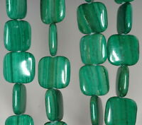 16mm Malachite Lace Jasper Gemstone Grade Aa Yellow Square Loose Beads 16
