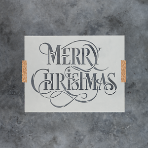 Merry-Christmas-Stencil-Durable-amp-Reusable-Mylar-Stencils