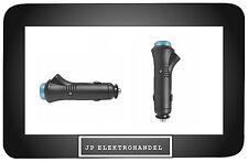Auto Zigarettenanzünder Stecker mit Sicherung und Umschalter Diode Blau 12V 24V