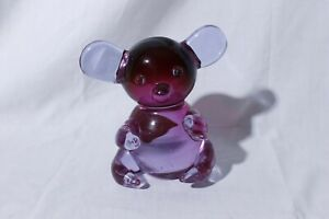 Vintage-Murano-Purple-Glass-Koala-Bear-Made-in-Italy-5-5-034-Tall