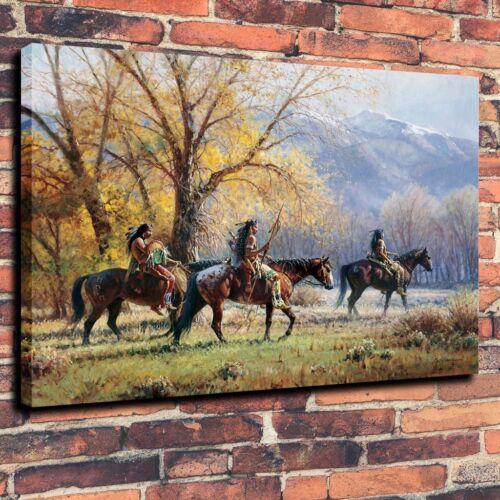 "Autumn,16/""x20/"" Crow Home Decor Art Canvas Print Oil Painting Indians"