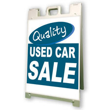 Quality Used Car Lot Save Sidewalk A Frame 24x36 Outdoor Vinyl Retail Sign