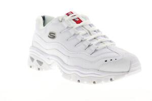 skechers mens white trainers