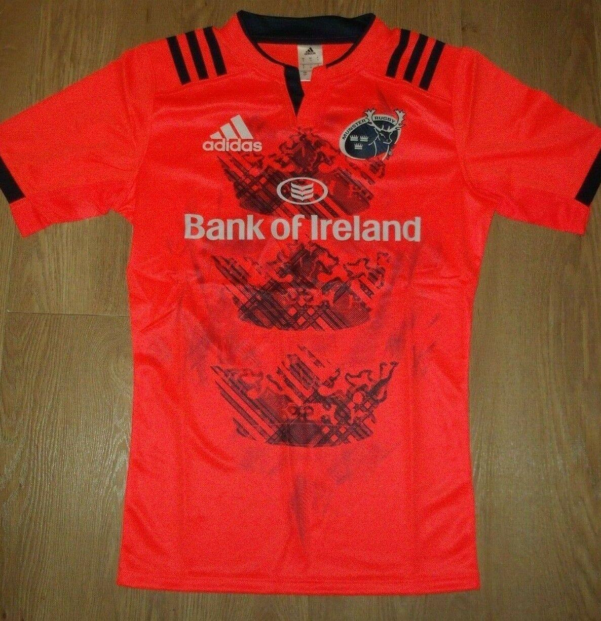 Munster Rugby Irland Irisch Hemd Trikot Trikot Trikot Adidas Orange Krone S L XL XXL XXXL Neu 39ce0d