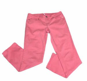 Ann-Taylor-Loft-Women-039-s-Pants-Size-29-8-Pink-Modern-Straight-Mid-Rise
