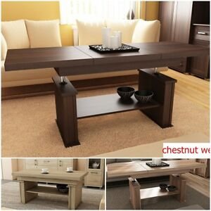 Details About Extendable Lift Up Quality Large Coffee Table Modern 3 Colours Oak Contemporary