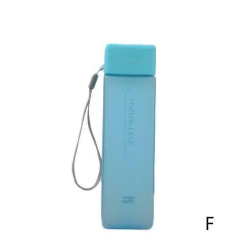 500 ml Carré Plastique Tasse Bouteille d/'Eau Boisson Carafe Bouteille avec Free paille BPA K9W3