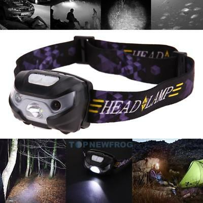3500Lum 8W LED Motion Sensor Headlamp Headlight USB Rechargeable Head Flashlight