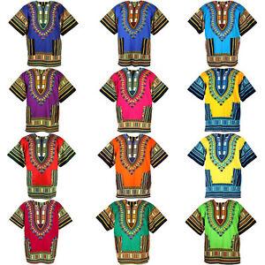 14 Black Shade Dashiki African Mexican Poncho Shirt Blouse Cotton Unisex Var