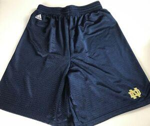 Notre-Dame-Shorts-Mens-SZ-S-M-Adidas-Mesh-27-034-Actual-Waist-Mesh-Alumni-Gym-Run