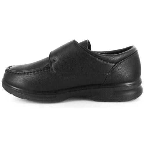 Dr Keller Mens Wide Fit Shoes Faux Leather Padded Casual Formal Smart Moccasin