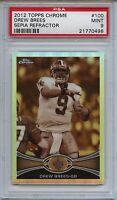 2012 Topps Chrome 100 Drew Brees Sepia Refractor Psa 9 Mint