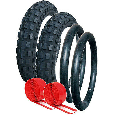 Out n About Heavy Duty Chunky Tyre and Tube Set  with Double Puncture Protection