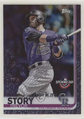 2019 Topps Opening Day #34 Trevor Story Colorado Rockies Baseball Card