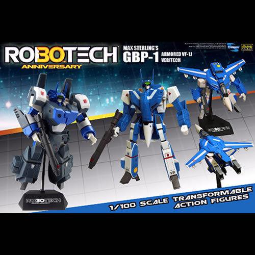 Robotech Figures  30th Anniversary 1 100 GBP-1 HAT Max Sterling GBP-1J Veritech