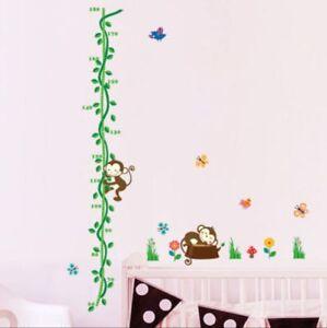Messlatte-Affe-Kinderzimmer-Wandtattoo-Wandbild-Kind-Wandsticker-133