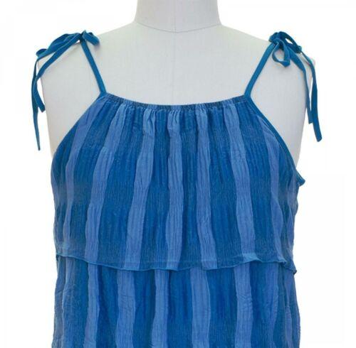 Jon and Anna Ladies Tonal Stripes Ruffle Handkerchief Dress