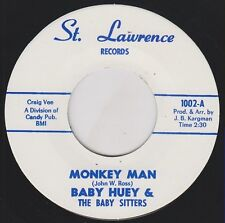 "BABY HUEY Monkey Man ST LAWRENCE Re. 7"" Wild 1965 Garage Frat R&B shaker HEAR"