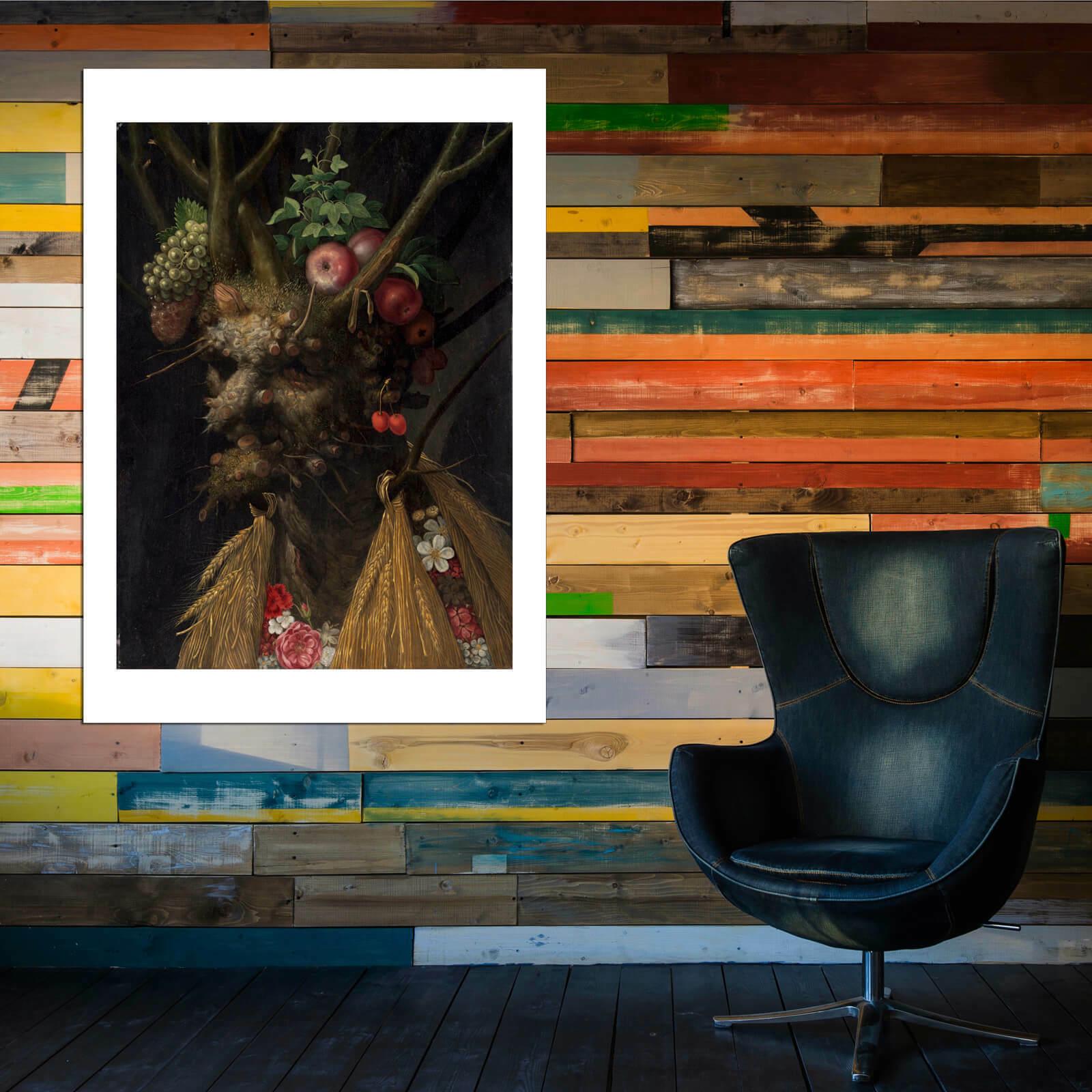 Giuseppe Arcimboldo - Four Seasons In One Head Wall Wall Wall Art Poster Print 667650