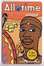 FRANCE TELECARTE / PHONECARD PREPAYEE .. 7€50 TELE2 ALLO TIME AFRIQUE AFRICA +N°