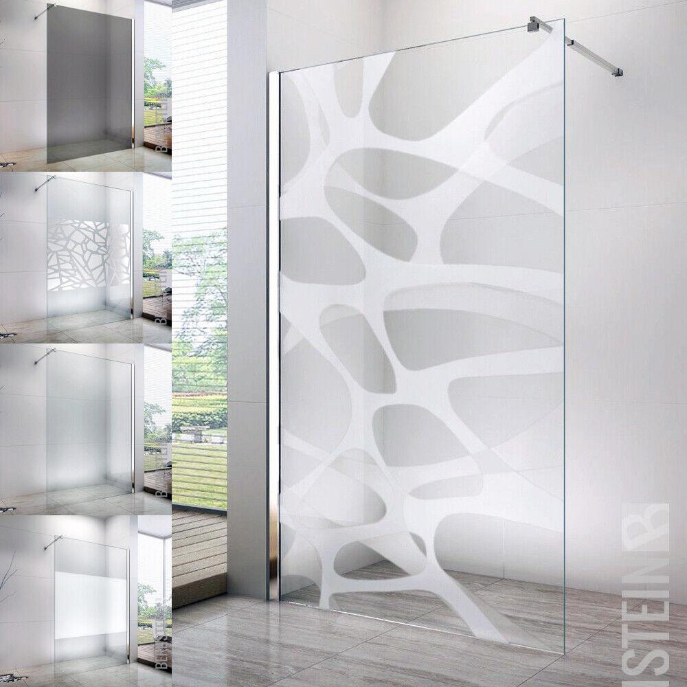 10mm Walk In Duschewand Duschabtrennung Glas Duschkabine Dusche Modell wählbar