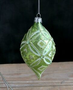 Set of 3 RAZ Imports 6 Glittered Finial Ornaments