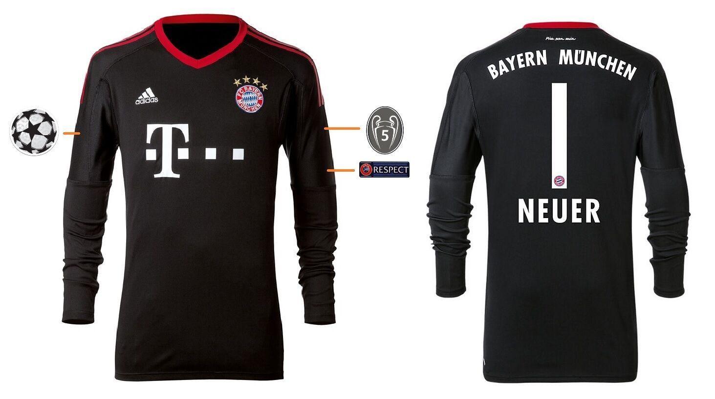 Trikot FC Bayern 2017-2018 Home Home Home Torwart UCL - Neuer  Champions League  | Zu verkaufen  8fccb2