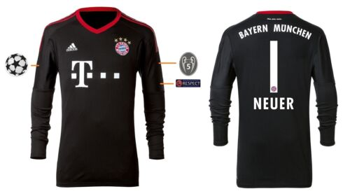 Champions League 164-XXL Trikot FC Bayern 2017-2018 Home Torwart UCL Neuer
