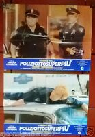 (Set of 4) POLIZIOTTOSU (Terence Hill) Italian Original Movie LOBBY CARD 80s