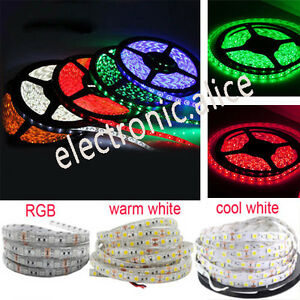DC12V-1M-5M-SMD-5050-RGB-white-Waterproof-300LED-Flexible-3M-Tape-Strip-Light