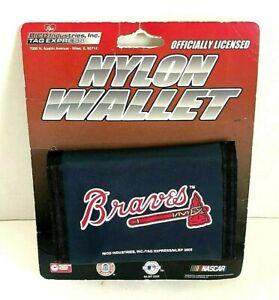 Atlanta-Braves-MLB-Baseball-Nylon-Tri-fold-Vinyl-Wallet-Navy-Blue