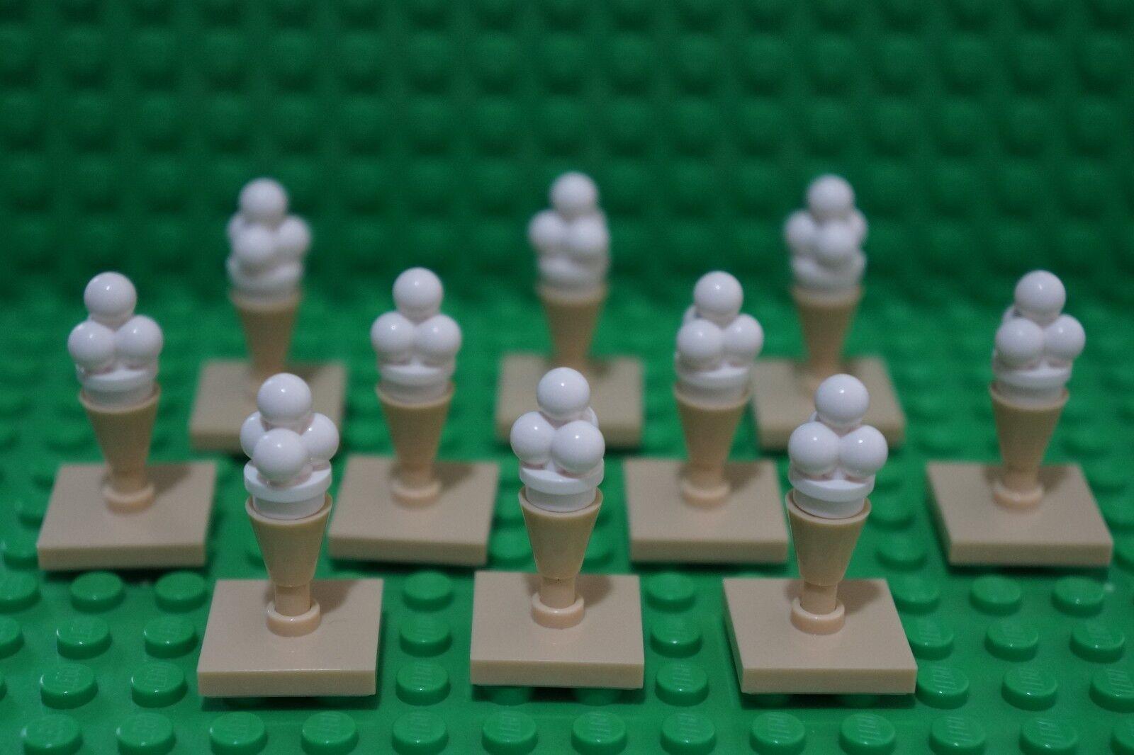 Lego Tan 1 x 1 Ice Cream Cone Brick x10 each pack *NEW* Friends City 11610