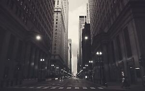CHICAGO-MONOCHROME-NEW-A1-CANVAS-GICLEE-ART-PRINT-POSTER