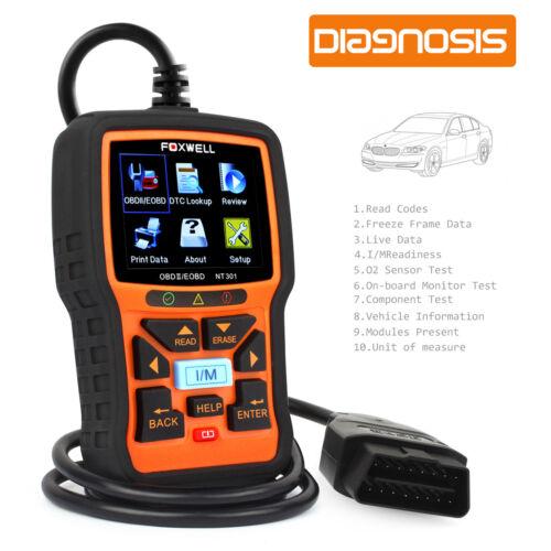 Foxwell NT301 OBD2 CAN EOBD Check Car Engine Fault Scaner Diagnostic Tool