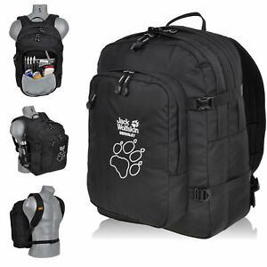 schulrucksack jack wolfskin rucksack berkeley daypack schwarz tatze 30 liter neu ebay. Black Bedroom Furniture Sets. Home Design Ideas