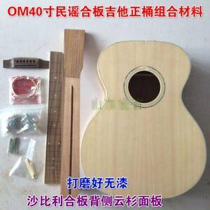 Details About 1 Set Diy Unfinished 40 Acoustic Guitar Style Guitar Kit New Scholars